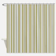 Lines 32 Gold on Platnium Shower Curtain