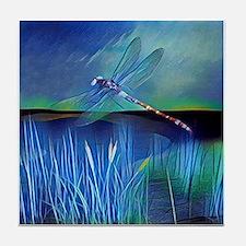 Dragonfly Pond Tile Coaster