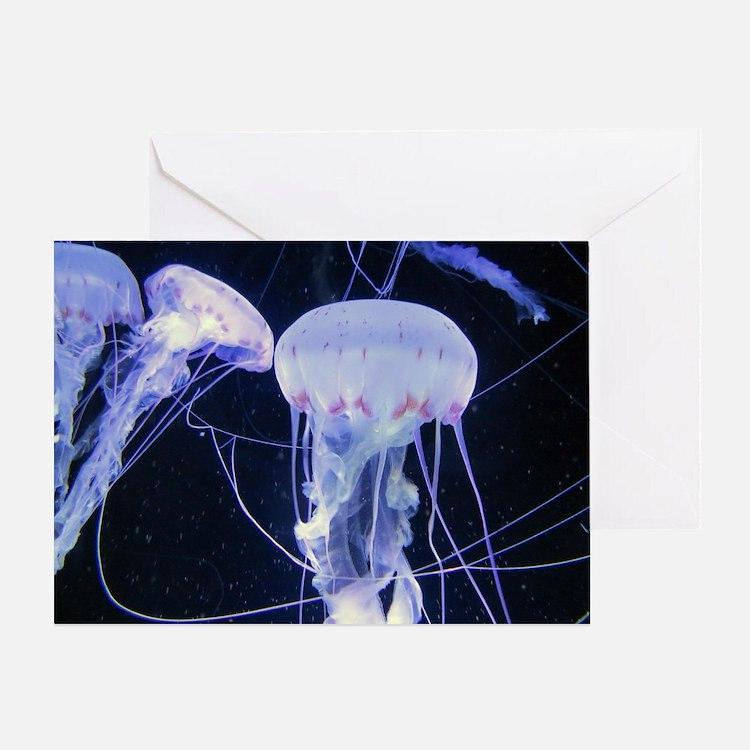 Cute Purple jellyfish Greeting Card