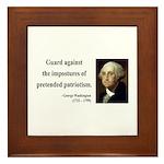 George Washington 17 Framed Tile