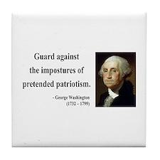 George Washington 17 Tile Coaster