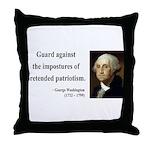 George Washington 17 Throw Pillow