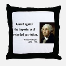 George Washington 17 Throw Pillow