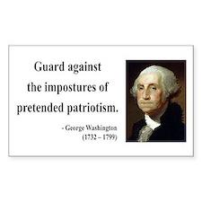 George Washington 17 Rectangle Decal