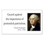 George Washington 17 Rectangle Sticker