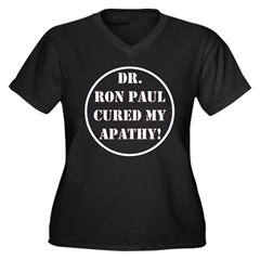 Ron Paul cure-2 Women's Plus Size V-Neck Dark T-Sh