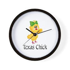 Texas Chick Wall Clock
