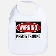 WARNING: Piper in Training Bib