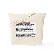 LIBRARIAN'S CREED Tote Bag