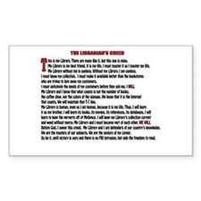 LIBRARIAN'S CREED Rectangle Decal