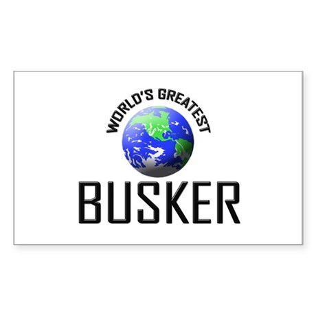 World's Greatest BUSKER Rectangle Sticker