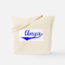 Anya Vintage (Blue) Tote Bag