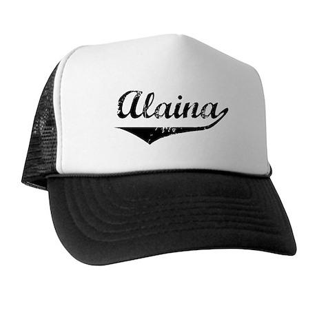Alaina Vintage (Black) Trucker Hat