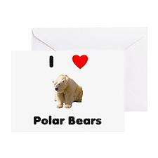 I Love Polar Bears Greeting Card