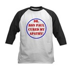 Ron Paul cure-2 Kids Baseball Jersey