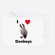 I love donkeys Greeting Cards (Pk of 10)
