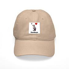 I love donkeys Baseball Cap