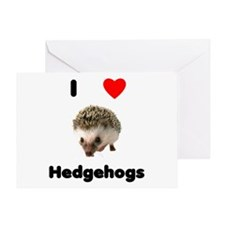 I Love Hedgehogs Greeting Card