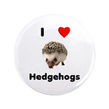 "I Love Hedgehogs 3.5"" Button"