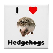 I Love Hedgehogs Tile Coaster