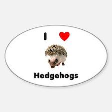 I Love Hedgehogs Decal
