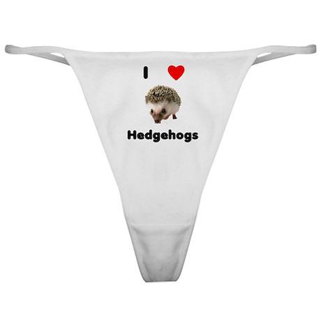 I Love Hedgehogs Classic Thong