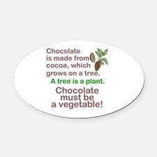 Unique Chocolate Oval Car Magnet