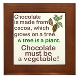 Chocolate vegetables Framed Tiles