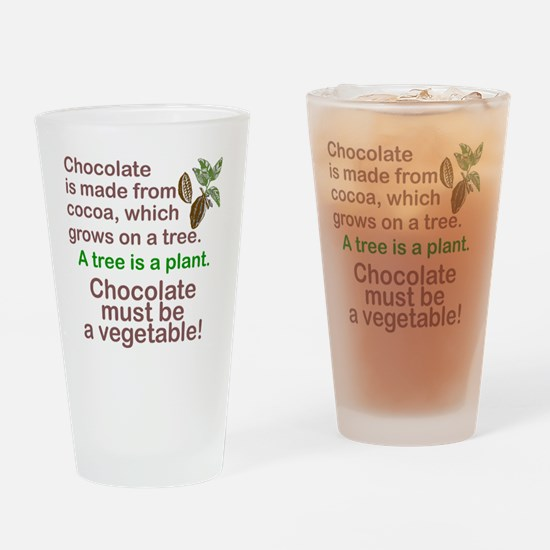 Funny Chocolate Drinking Glass
