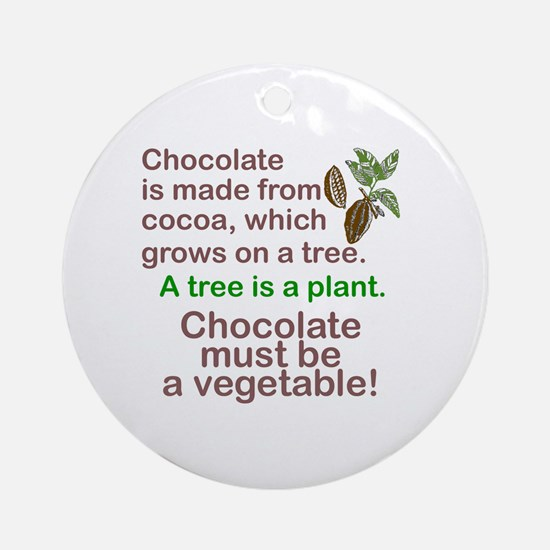 Funny Chocolate Round Ornament