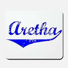 Aretha Vintage (Blue) Mousepad