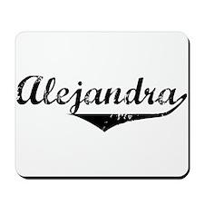 Alejandra Vintage (Black) Mousepad