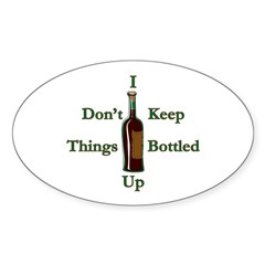 Bottled Up Oval Decal
