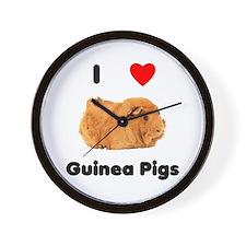 I love guinea pigs Wall Clock