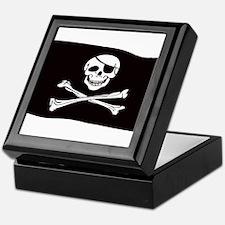 Jolly Rogers Flag Keepsake Box