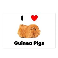 I love guinea pigs Postcards (Package of 8)