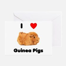 I love guinea pigs Greeting Card