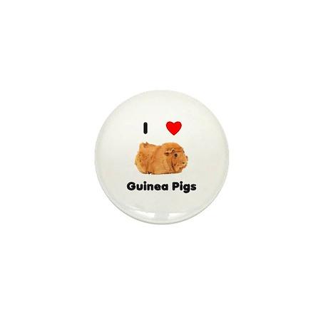 I love guinea pigs Mini Button