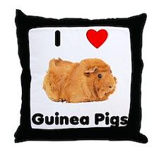 I love guinea pigs Throw Pillow