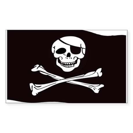 Jolly Rogers Flag Rectangle Sticker