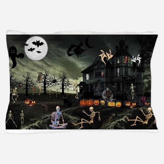 Skeleton Graveyard Pillow Case