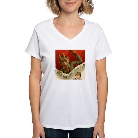 Christmas Krampus DEVIL Women's V-Neck T-Shirt