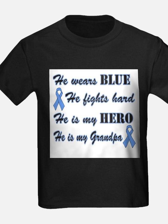 He is my Grandpa Light Blue H T-Shirt