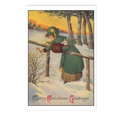 Merry Christmas Greetings Postcards (Package of 8)