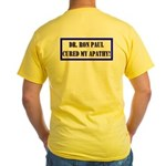 Ron Paul cure-1 Yellow T-Shirt