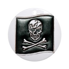 Jolly Rogers Embossed Ornament (Round)