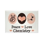 Peace Love Chemistry Rectangle Magnet (100 pack)