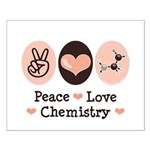 Peace Love Chemistry Small Poster