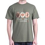 Peace Love Chemistry Dark T-Shirt