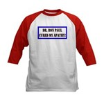 Ron Paul cure-1 Kids Baseball Jersey